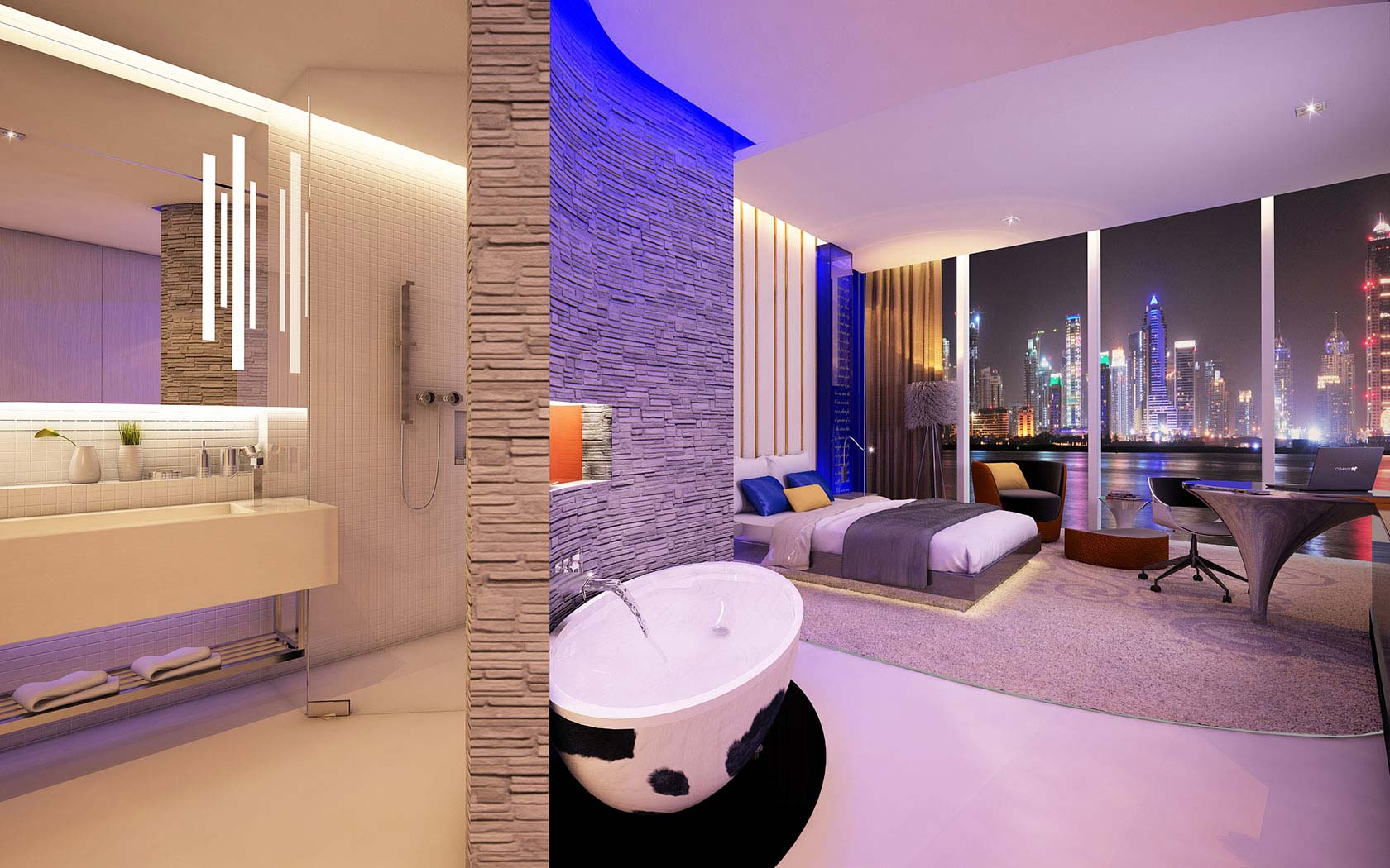 A Combination Of Concealed Architectural And Decorative Lighting Elements Create Mood Relaxation Well Being